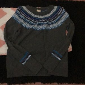 Women's A New Day Grey And Blue FairIsle Sweater